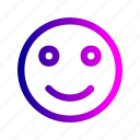 emoji, happy, relax, satisfy, smile icon