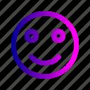 emoji, happy, relax, satisfy, smile icon
