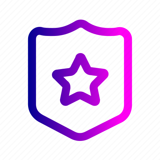 award, badge, police, safety, sheriff, shield, star icon