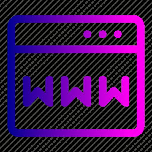 domain, webpage, website, window, www icon