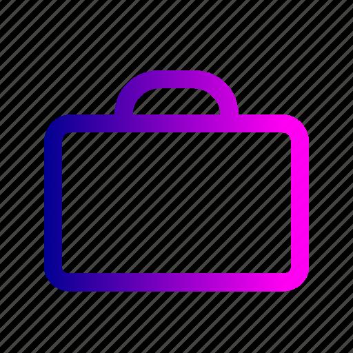 bag, briefcase, case, paper, suitcase, work icon