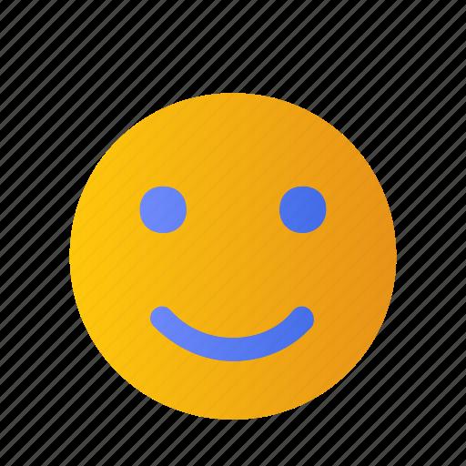 Satisfy, smile, happy, emoji, relax icon