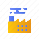 building, development, factory, industry, infrastructure icon
