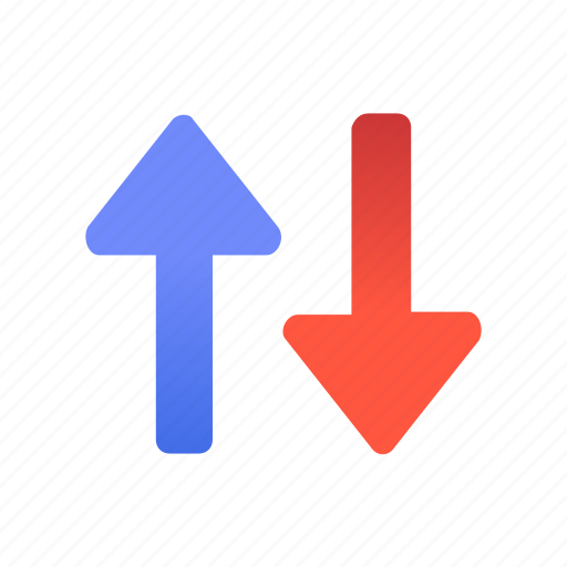 Direction, way, top, up, down, arrow, path icon