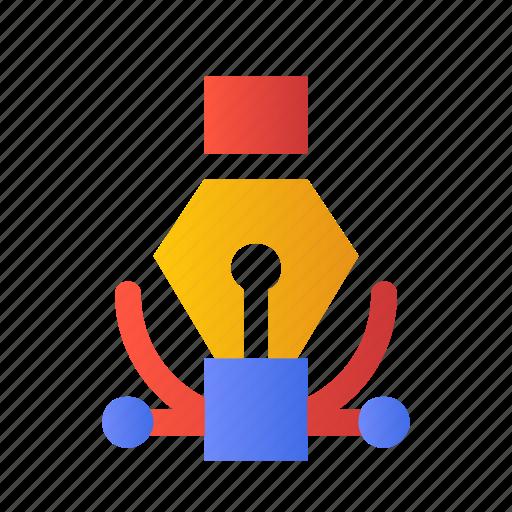 Development, draw, art, tool, curve, design icon
