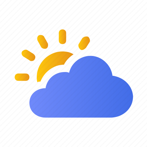 atmosphere, cloud, cloudy, forecast, sun, weather icon
