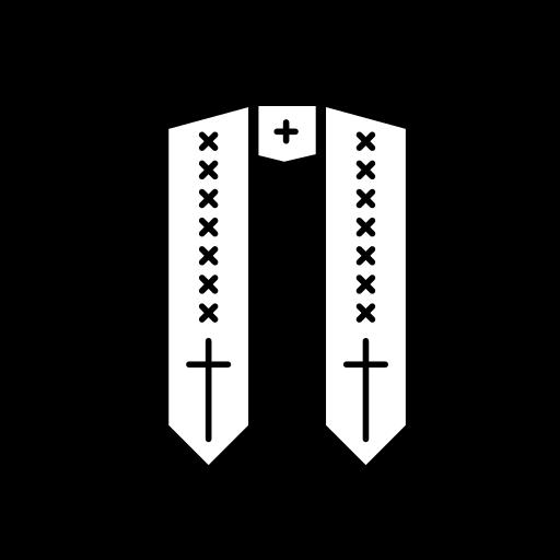 catholic, christian, church, robe, scarf icon