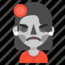 angry, catrina, death, emoji, halloween, horror icon