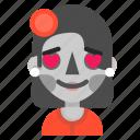 catrina, death, emoji, halloween, horror, love icon
