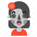 catrina, death, emoji, halloween, horror, surprised
