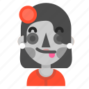 catrina, death, emoji, halloween, horror, tongue icon