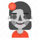 catrina, death, emoji, halloween, horror, wink icon