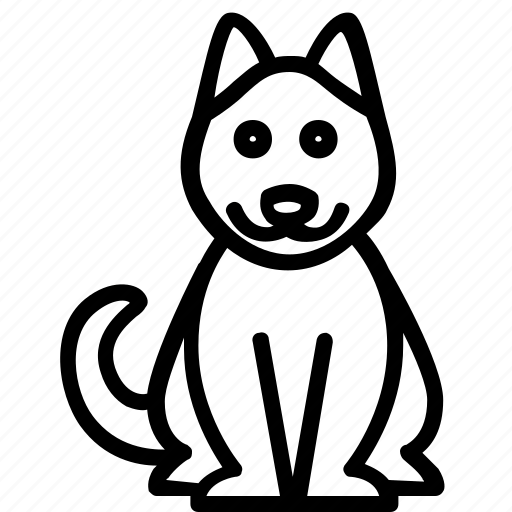 animal, dog, pet, silhouette, sitting icon
