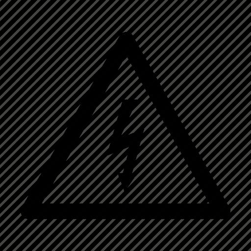 high, voltage icon
