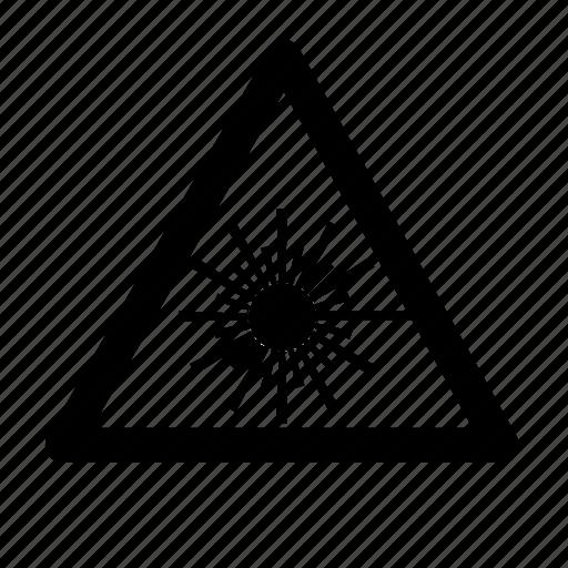 beam, laser icon