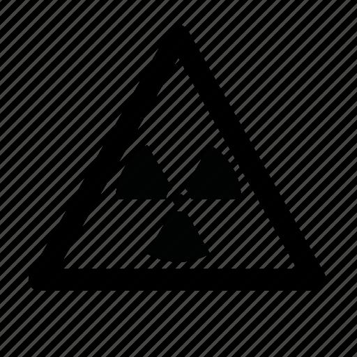 caution, danger, hazard, nuclear icon