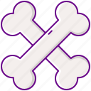 bones, cross, cross bones, skeleton icon