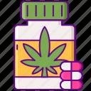 capsules, marijuana, pills, weed icon