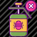 bug, free, no pesticide, pesticide, spray icon