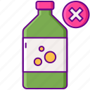 bottle, free, solvent, solvent free icon