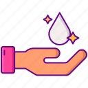 application, cream, droplet, hand, topical icon