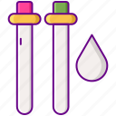 droplet, soluble, solution, solvent, test, tube, water icon