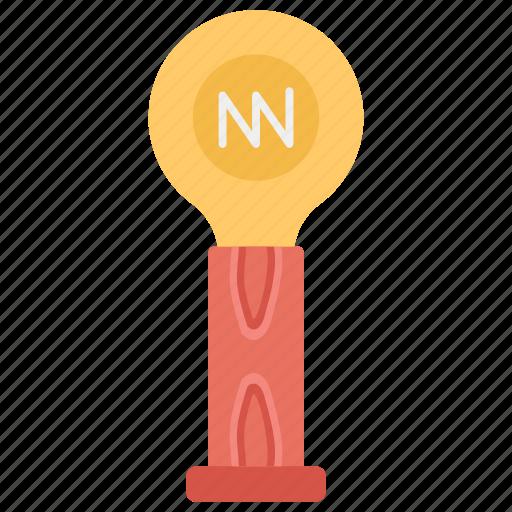 flashlight, house decoration, shining light, table lamp, walnut torch lamp icon