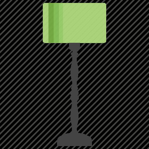 floor lamp, lamp, shining light, standing lamp, table lamp icon