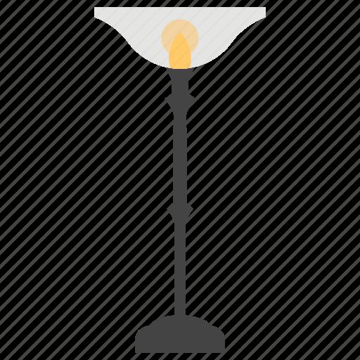 bronze lamp, flashlight, floor lamp, shining light, table lamp icon