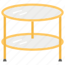 fancy table, furniture, room table, stylish round table, stylish table icon