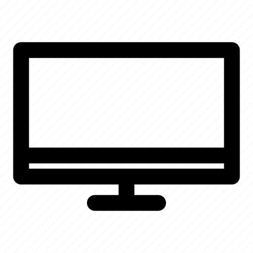 display, monitor, screen, television, watch icon