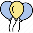 balloons, birthday, celebration, fun, party icon