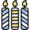 birthday, candles, celebration, decoration, party icon