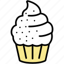 birthday, cupcake, dessert, muffin, party, snack icon