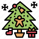 christmas, gift, snowflake, sock, tree, winter icon