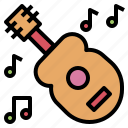 concert, instrument, music, note, party, quitar icon