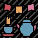 break, dessert, party, sweet, tea icon
