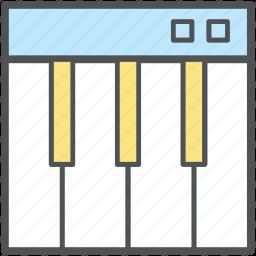 instrument, music, music keyboard, piano, piano keyboard, pianoforte, synthesizer icon