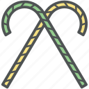 candycanes, party candycanes, peppermint candy, sweet, swirl candy icon