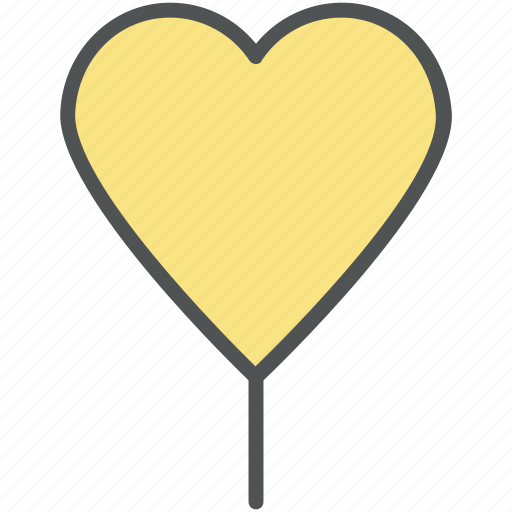 heart, heart balloon, like, love, love sign, romance, romantic, valentine icon