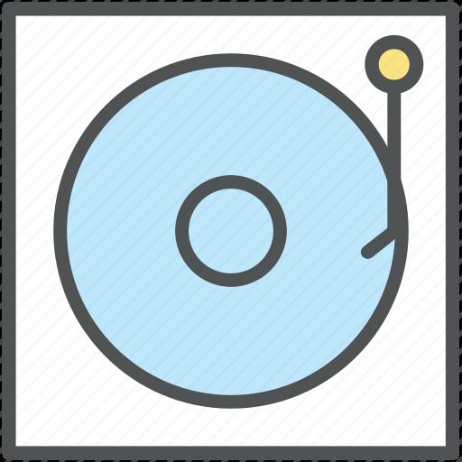 audio device, melody, turntable, vinyl, vinyl player icon