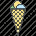 cake cone, cone cream, cup cone, ice cone, ice cream, poke ice cream icon
