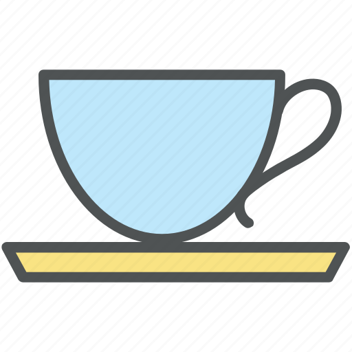 coffee, coffee cup, cup, cup with saucer, tea, tea cup icon