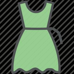 clothing, flare dress, frock, garments, summer dress, women clothing, women dress icon