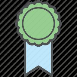 award, award medal, badge, medal, prize, ribbon award, ribbon badge icon