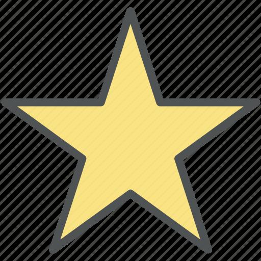 decoration star, favorite, five pointer, ranking, star icon