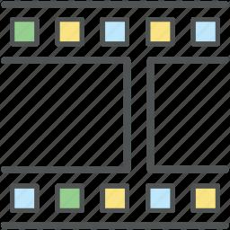 clip reel, film frame, film reel, media reel, movie reel, reel, video frame, video reel icon