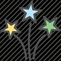enjoyment, firework, firework stick, fun, happiness, spark icon