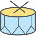 drum, drum beat, music, music drum, music instrument, percussion instrument icon