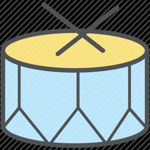 drum, drum beat, music, music drum, music instrument, percussion instrument icon